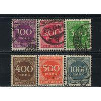 Германия Веймар 1923 Инфляция Номиналы Малый формат wz2