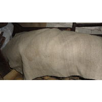 Старинный льняная ткань