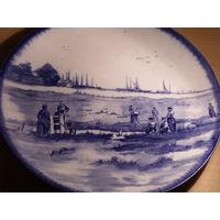 Тарелка ручная роспись старая Англия 19 век