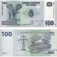 Конго  100 франков  2013 год   UNC