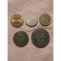 Гана набор 5 монет 1967-1975
