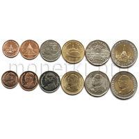 Таиланд 6 монет 2008-2016 годов. Здания