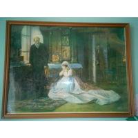 Картинка в рамке под стеклом СССР