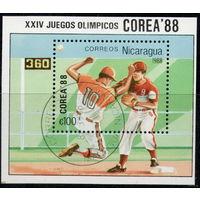 Никарагуа /1988/ XXIV Олимпийские Игры / Сеул. Корея-88 / Бейсбол / Блок.