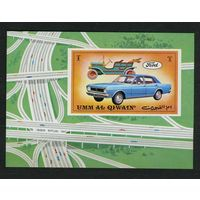 ОАЭ Умм-ель-Кайвайн 1972г, автомобили, 1 блок.
