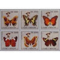 2003 Сан-Томе и Принсипи Фауна Бабочки MNH  серия 6 марок  \5