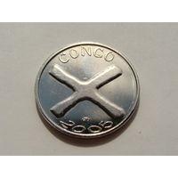 Конго. 1500 франков 2005 год UC#201 UNC - XF