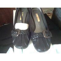 """Туфли женские """"Белвест"""" 37 размер натуральная кожа черные"""