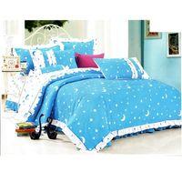 """Постельное бельё """"Этелька"""" 1.5 сп Ночка голубой, размер 150х210 см, 150х210 см, 50х70 см, 100% хлопок, сатин"""