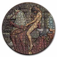 "Камерун 3000 франков 2020г. ""Джон Малер Кольер. Леди Годива. Пазл"". Монета в капсуле, деревянном подарочном футляре; сертификат; коробка. СЕРЕБРО 93,30гр.(3 oz)."