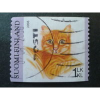 Финляндия 2006 кошка, марка из буклета