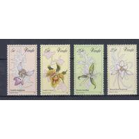 [1472] Венда ЮАР 1981. Флора.Цветы.Орхидеи. 4 МАРКИ + БЛОК.