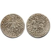 Полугрош 1565, Жигимонт Август, Вильно. Окончания легенд: Ав - L, Рв - LITV