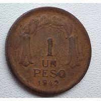 Чили 1 песо, 1942 6-1-28