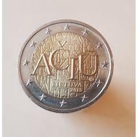2 евро Литва 2015 Литовский язык