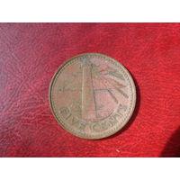 5 центов 1994 год Барбадос