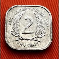 118-25 Восточные Карибы, 2 цента 1998 г.