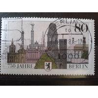 Берлин 1987 750 лет Берлину, герб Михель-2,0 евро гаш.