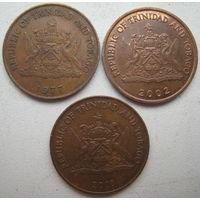 Тринидад и Тобаго 5 центов 1977, 2002, 2003 гг. Цена за 1 шт. (g)