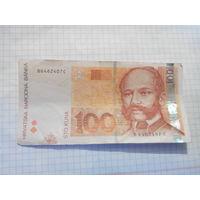 Хорватия 100куна 2012г.
