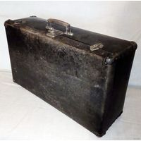 Большой фибровый чемодан 50-60-е гг СССР 70 х 40 х 22 см