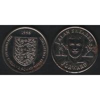 Official England Squad. Forward. Alan Shearer -- 1998 - The Official England Squad Medal Collection (f02)