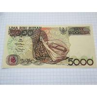 Индонезия. 5000 рупий (образца 1992 года, выпуск 1992, P130a, UNC)