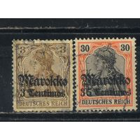 Германия Почта за рубежом Марокко 1911 Надп #46,51