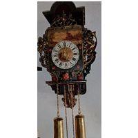 Часы настенные из Голландии, винтаж, рабочие.