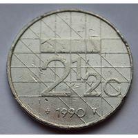 Нидерланды, 2 1/2 гульдена 1990 г.