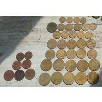 Сборный лот дореформенных монет СССР. 42 штуки. Не с рубля