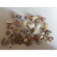 Камни сердолик разных цветов и размеров.