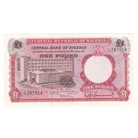 Нигерия 1 фунт образца 1967 года. Состояние аUNC+!