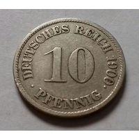 10 пфеннигов, Германия 1900 J