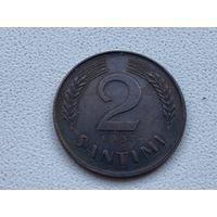 Латвия 2 сантима 1937 г. RR !!