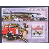 [1035] Гвинея-Биссау 2006. Спасательные службы,спецтранспорт. МАЛЫЙ ЛИСТ + БЛОК.