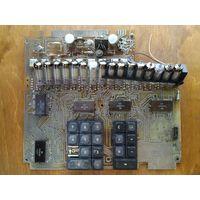 Плата от калькулятора с лампами ИВ-6