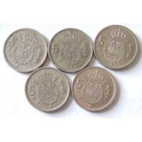 Испания, 5 песет 1975 (76, 77, 78, 79, 80)