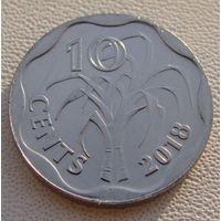 """Эсватини """"Свазиленд""""  10 центов 2018 год   UC#8"""