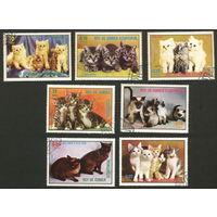 Кошки. Экваториальная Гвинея 1976. Полная серия. Гаш.