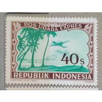 Авиация Самолеты Авиапочта Индонезия 1947-1948 год лот 4 ЧИСТАЯ