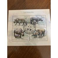 Того 2013. Носороги. Малый лист