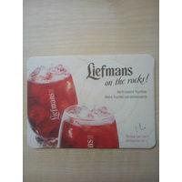 Бирдекель (подставка под пиво) Liefmans/Бельгия