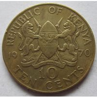 Кения 10 центов 1970