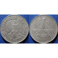 ФРГ, 1 марка 1970 G. монетный двор Карлсруэ