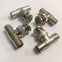 BNC ((цена за 4 шт)) разъем байонетный, высокочастотный, Т-коннектор, для коаксиального кабеля