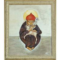 Икона святой Спиридон Тримифунтский шелк