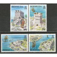 Бермуды. Исторические форты. 1982г. Mi#418-21. Серия.