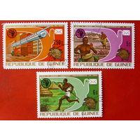 Гвинея. История почты. ( 3 марки ) 1974 года.