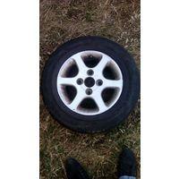 Литые диски R13 C резиной.Немного б.у.Hyundai Accent/1997/